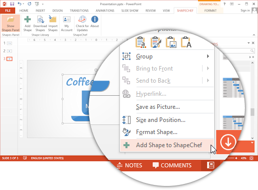 Add Custom PowerPoint Shapes